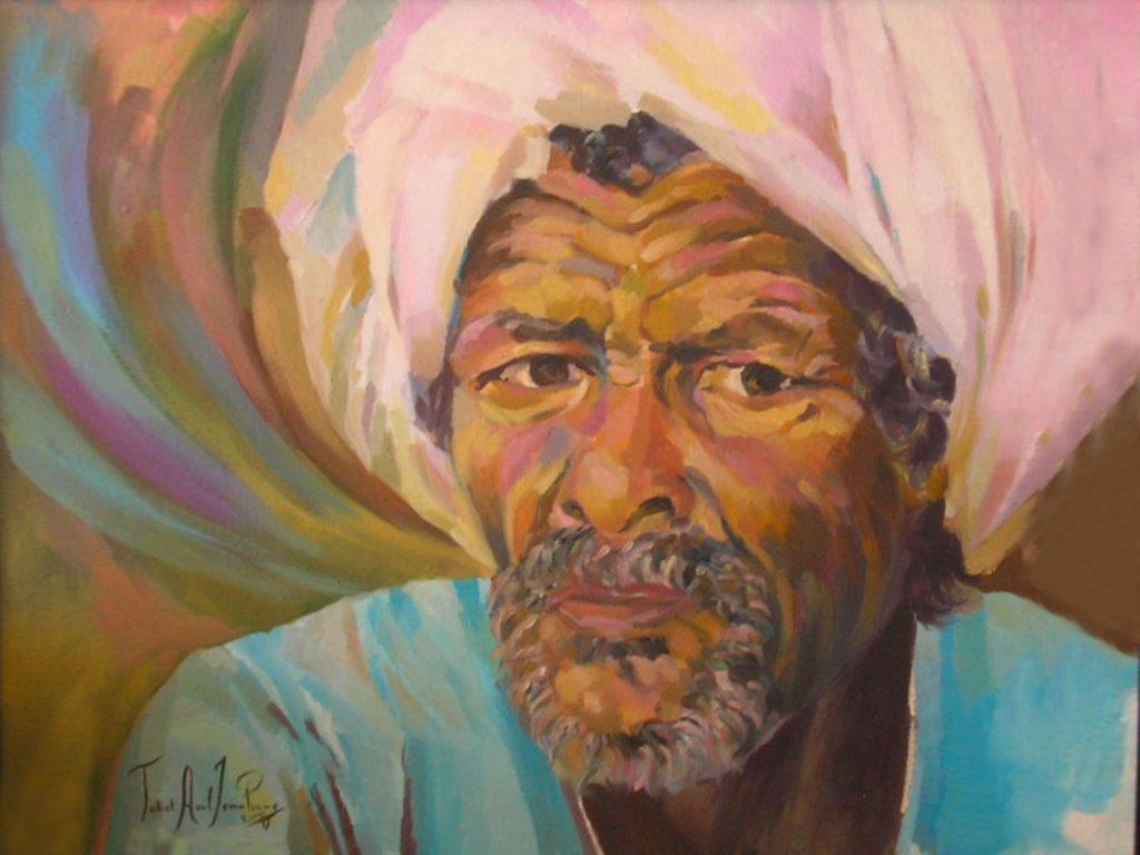 tableau veille homme turban algerie ismahane tabet aoul portrait fashion photographer