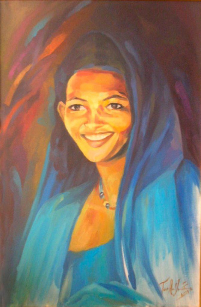 tableau femme sud sourire ismahane tabet aoul portrait fashion photographer