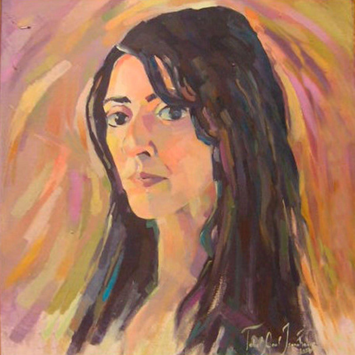tableau autoportrait orange ismahane tabet aoul portrait fashion photographer