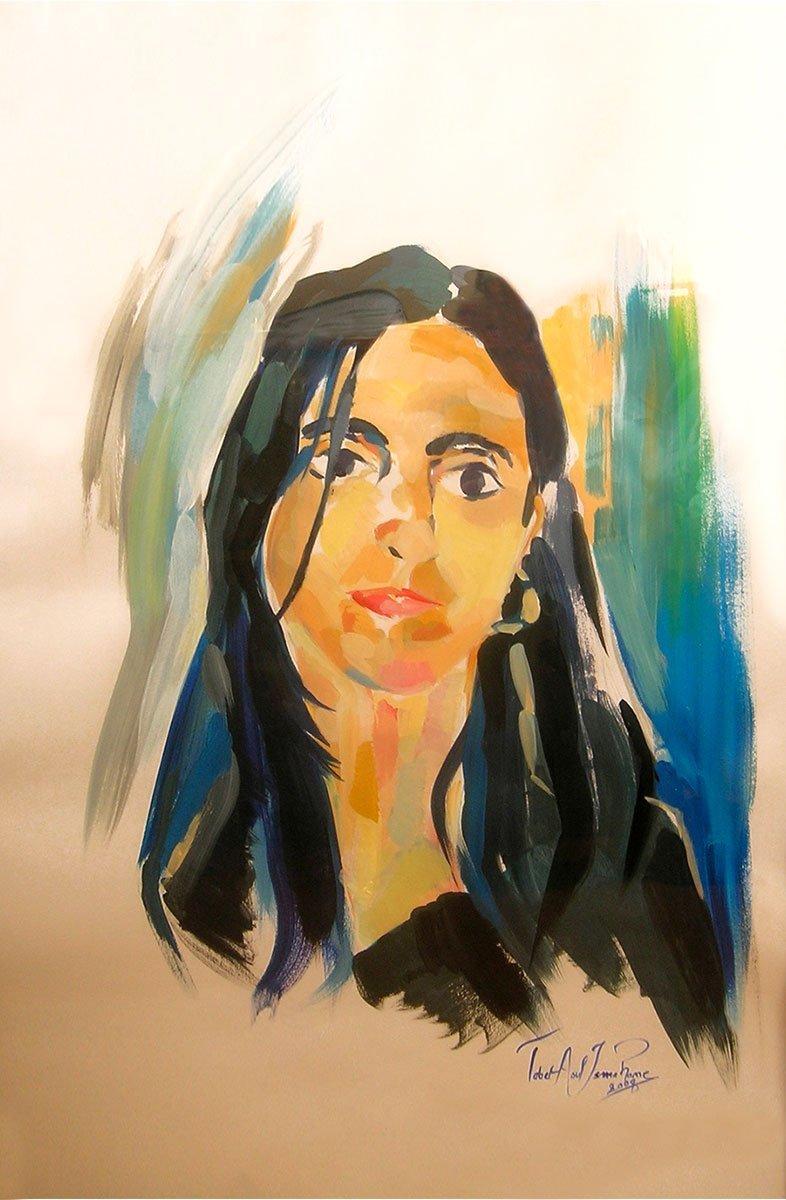 tableau autoportrait ismahane tabet aoul portrait fashion photographer