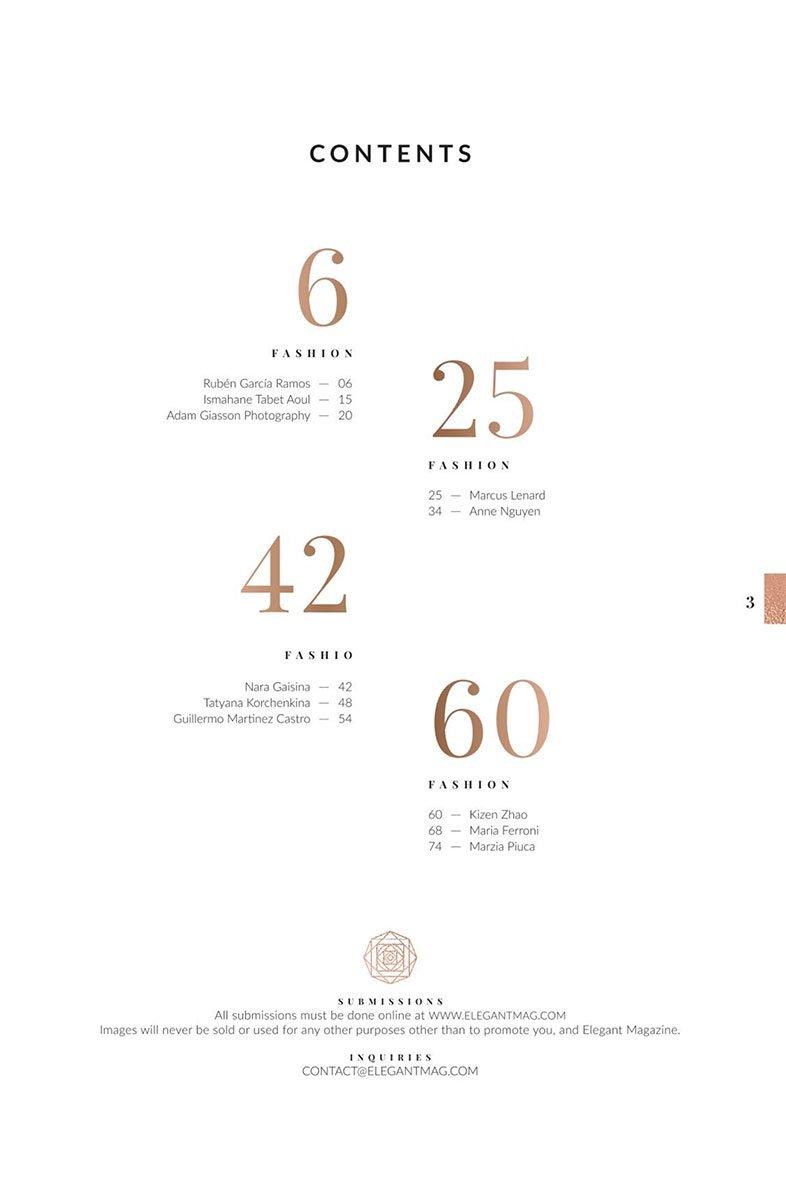 sommaire elegant magazine